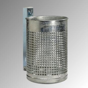 Abfallbehälter mit gelochtem Korpus - Stahlblech - 20 l - verzinkt