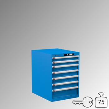Lista Schubladenschrank - 14.367.010 - 800x564x725 mm (HxBxT) - 7 Schubladen - 75 kg - Key Lock - lichtblau (RAL 5012)