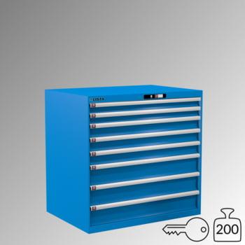 Lista Schubladenschrank - 14.513.010 - 1.000x1.023x725 mm (HxBxT) - 8 Schubladen - 200 kg - Key Lock - lichtblau (RAL 5012)