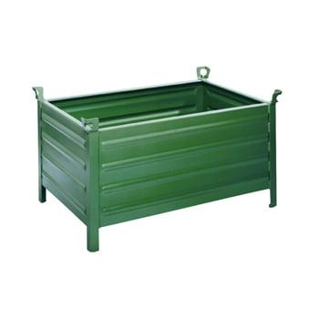 Transport- Stapelbehälter - geschlossen - 1200x800 mm - 700 kg - kranbar - resedagrün