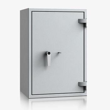 Massiver Wertschutzschrank, Tresor, Safe, VdS Klasse 0/N, 1 Fachboden, feuerhemmend, definierter Einbruchschutz, 770 x 530 x 415 mm (HxBxT)