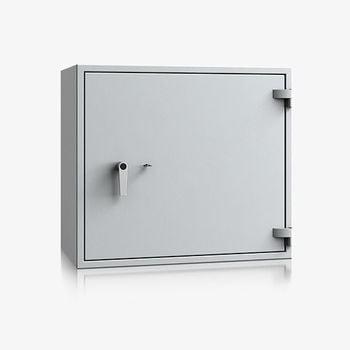 Massiver Wertschutzschrank, Tresor, Safe, VdS Klasse 0/N, 1 Fachboden, feuerhemmend, definierter Einbruchschutz, 770 x 870 x 495 mm (HxBxT)