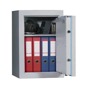 Wertschutzschrank - feuergeschützt - 1175x705x527 mm - 2 Böden - lichtgrau