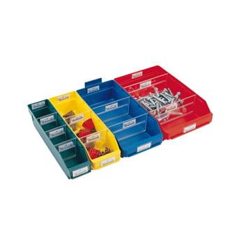 Regalkästen - PP - 95x240x600 mm - 15 Stück - Sortierkästen - Farbe gelb online kaufen - Verwendung 0