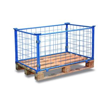 Palettenaufsatzrahmen für Europalette - 1.500 kg - Höhe 600 mm - 4-fach stapelbar - Gitter - lichtblau