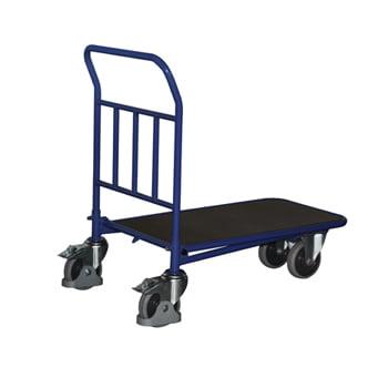 C+C Wagen mit Siebdruckplatte - ineinanderschiebbar - Ladefläche 500 x 880 mm (BxT) - Traglast 400 kg - enzianblau