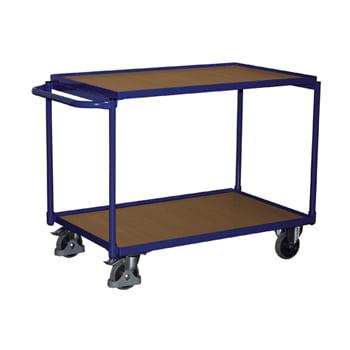Tischwagen mit MDF-Platte - 250 kg Traglast - 2 Ladeflächen 490 x 835 mm