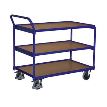 Tischwagen mit 3 Ladeflächen - Traglast 250 kg - Ladefläche 490 x 835 mm (BxT)
