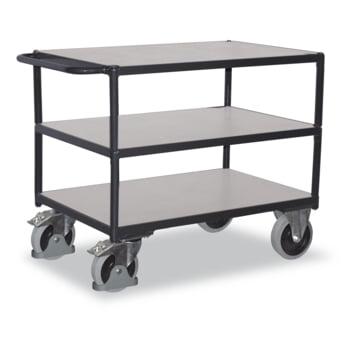 Leitfähiger ESD Tischwagen - 3 Ladeflächen 500 x 850 mm - Traglast 400 kg