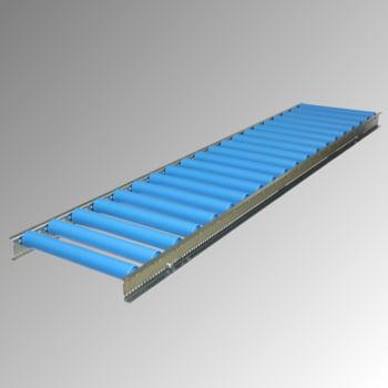 Leicht-Rollenbahn - 500 x 2.000 mm (BxL) - Achsabstand 125 mm - Kunststoffrollen