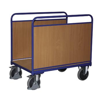 Seitenbügelwagen mit Holzwänden - Ladefläche: 640 x 1.060 mm - Traglast 500 kg