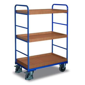 Etagenwagen mit 3 Kästen - Traglast 250 kg - 1.530 x 700 x 1.060 mm (HxBxT)