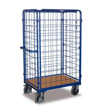 Paketwagen - 4 Wände - Traglast 500 kg - Höhe 1.820 mm - Ladefläche 700 x 1.000 mm (BxT) - enzianblau