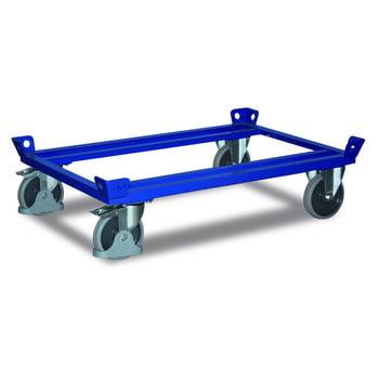 Palettenfahrgestell - Ladefläche 610 x 810 mm (BxT) - Traglast 500 kg - Zentralfeststeller