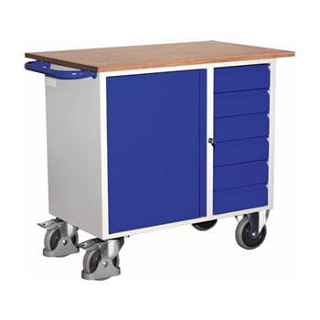 Werkstattwagen mit 6 Schubladen - Traglast 400 kg - 960 x 600 x 1.110 mm (HxBxT)