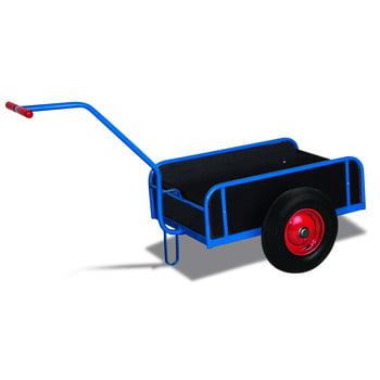 Handwagen mit Bordwänden - Traglast 200 kg - 730 x 725 x 1.555 mm (HxBxT) - Luftbereifung