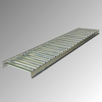 Leicht-Rollenbahn - 400 x 2.000 mm (BxL) - Achsabstand 100 mm - Stahlrollen