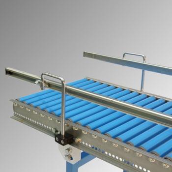 Klein-Rollenbahn - 400 mm (B) - 20 mm Stahlrohrrollen - Kurve 90 Grad online kaufen - Verwendung 3
