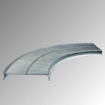 Klein-Rollenbahn - 400 mm (B) - 20 mm Stahlrohrrollen - Kurve 90 Grad online kaufen - Verwendung 0