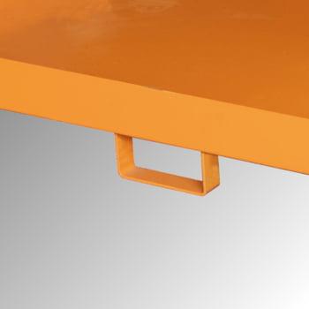 Regal-Bodenwanne f. Feldbreite 2.700 mm - 540 l - mit Gitterrost - verzinkt online kaufen - Verwendung 2