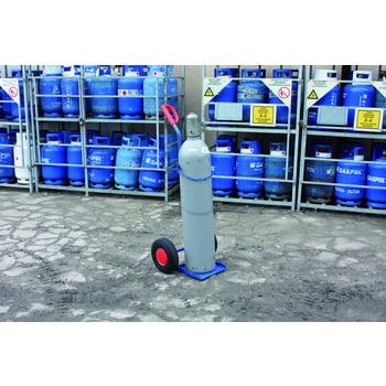 Stahlflaschenkarre - 100 kg Traglast - für 33 kg Gasflaschen geeignet - Vollgummi