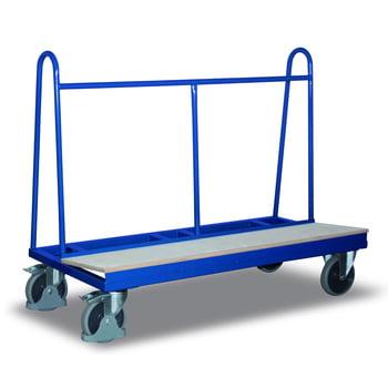 Plattenwagen - 500 kg Traglast - HxBxT 1.200 x 680 x 1.500 mm - thermoplastisches Gummi