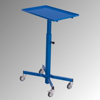 Fahrbarer Materialständer - 150 kg - höhenverstellbar 735 bis 985 mm - enzianblau