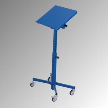 Fahrbarer Materialständer - 150 kg - höhenverstellbar 780 bis 1.180 mm - neigbar - enzianblau