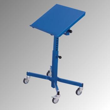 Fahrbarer Materialständer - 150 kg - höhenverstellbar 520 bis 800 mm - neigbar - enzianblau