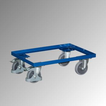 Eurokastenroller - Tragkraft 250 kg - Ladefläche 410 x 605 mm - offener Rahmen