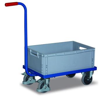Griffroller - Traglast 250 kg - Ladefläche 415 x 615 mm (BxT) - mit Kunststoffkasten