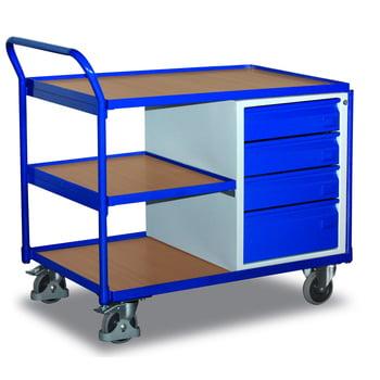 Werkstattwagen - 250 kg - Ladefläche 590 x 985 mm (BxT) - 4 Schubladen