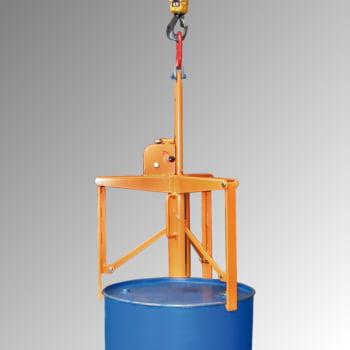 Fassgreifer - Traglast 400 kg - f. stehende 60-200-l Fässer - gelborange