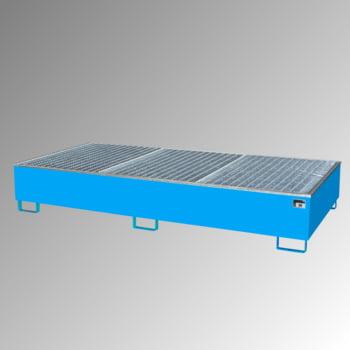 Auffangwanne - PE-Einsatz - 1.000 l - für 2 IBC-Container - lichtblau