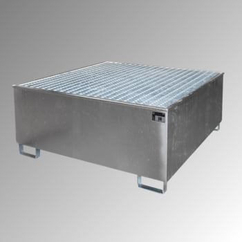 Auffangwanne - PE-Einsatz - 1.000 l - für 1 IBC-Container - verzinkt