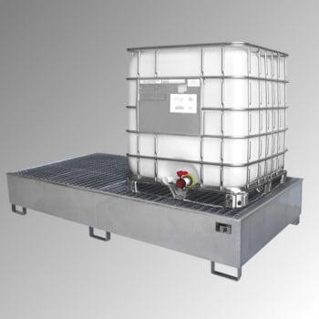 Auffangwanne - PE-Einsatz - 1.000 l - für 2 IBC-Container - verzinkt