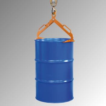 Scherengreifer - für stehende 200 l-Stahlfässer - 300 kg - gelborange