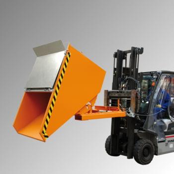Kippbehälter - Abrollsystem - Volumen 150 l - Traglast 750 kg - 540 x 640 x 960 mm (HxBxT) - mausgrau (RAL 7005) online kaufen - Verwendung 2