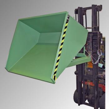 Kippbehälter - Abrollsystem - Volumen 150 l - Traglast 750 kg - 540 x 640 x 960 mm (HxBxT) - mausgrau (RAL 7005) online kaufen - Verwendung 4
