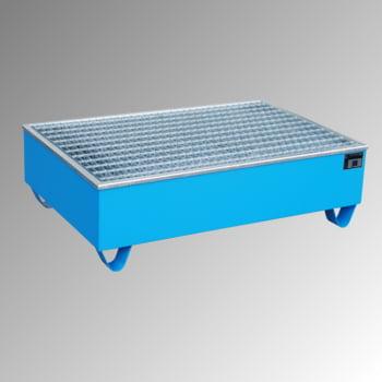 Auffangwanne - PE-Einsatz - 210 l - für 2 Fässer - lichtblau