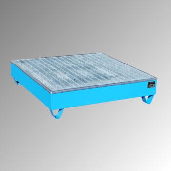 Auffangwanne - PE-Einsatz - 211 l - für 4 Fässer - quadratisch - lichtblau