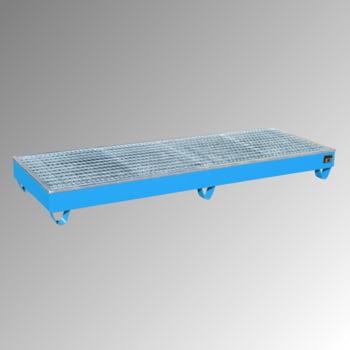 Auffangwanne - PE-Einsatz - 218 l - für 4 Fässer - breite Ausführung- lichtblau