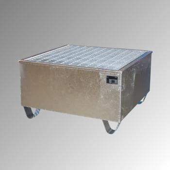 Auffangwanne - PE-Einsatz - 200 l - für 1 Fass - verzinkt