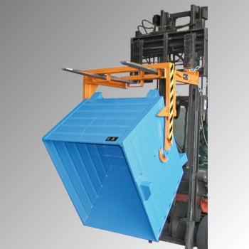 Kipptraverse - für Stapelkipper mit 2.000 l Volumen - manuell - gelborange