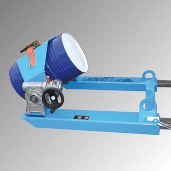 Fasskipper - für Fässer und Müllbehälter - 300 kg - Handkurbel - lichtblau