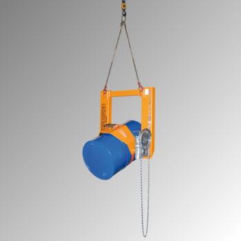 Fasskipper - für Fässer und Müllbehälter - 300 kg - Endloskette - gelborange