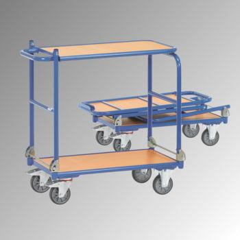 Fetra - Klappwagen - Tragkraft 250 kg - Ladefläche 450 x 720 mm (BxT) - Tischplatte - blau