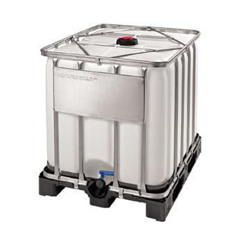 IBC auf Kunststoffpalette - Gefahrgutausführung - Auslaufventil - stapelbar - 600 l - 1.005 x 1.200 x 800 mm