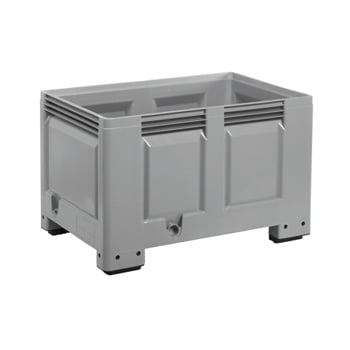 Palettenbox - Wände,Boden geschlossen - 535 l - BxLxH 800x1200x760mm - 4 Füße