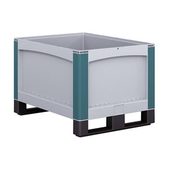 Palettenbox PP - 145 l - 800x600x250 mm - geschlossene Wände - 2 Kufen